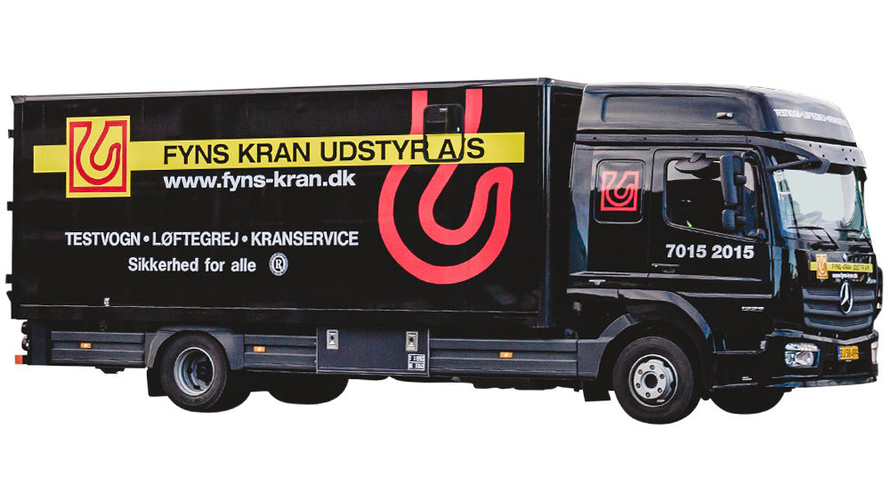 Service van test and service of cranes and llifting equipment - Fyns Kran Udstyr