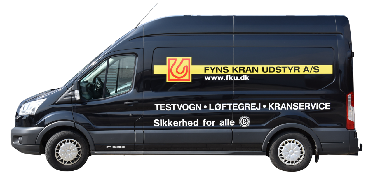 Service van test and service of cranes and lifting equipment Fyns Kran Udstyr